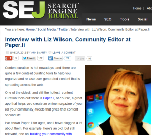 Interview with Liz Wilson, Community Editor at Paper.li, Search Engine Journal